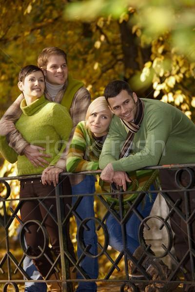 Couples in autumn park Stock photo © nyul