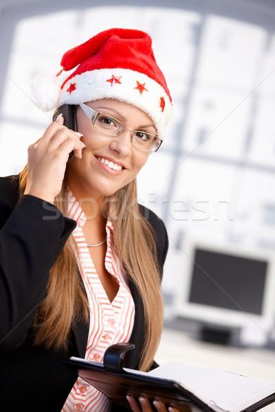 Stockfoto: Mooie · vrouwelijke · hoed · glimlachend