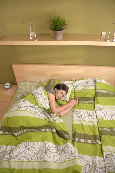 женщину спальный только утра спальня лице Сток-фото © nyul