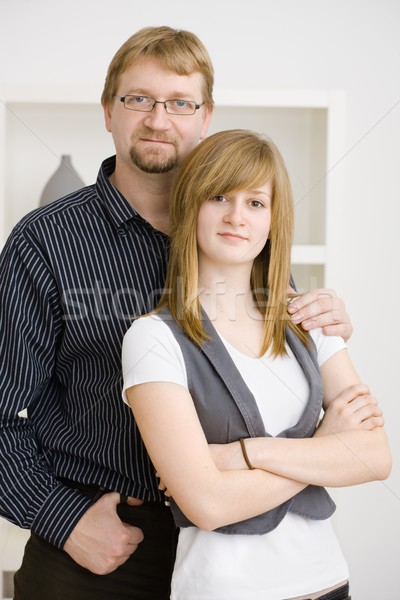 Stock photo: Father and daugther