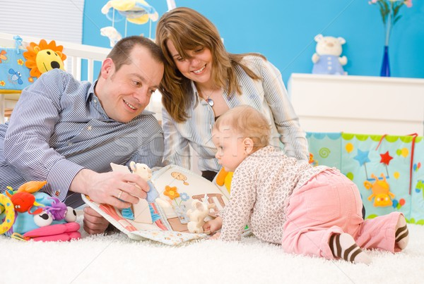 Stock photo: Happy family playing together