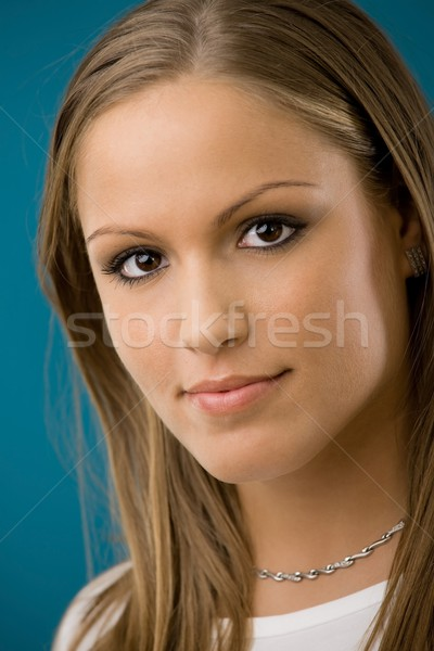 Hermosa collage nina retrato sonriendo Foto stock © nyul