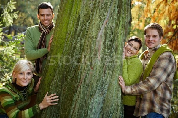 Four friends hiking Stock photo © nyul