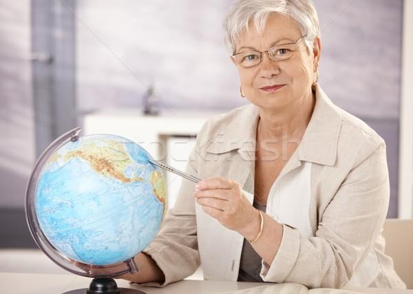 Supérieurs enseignants enseignement géographie séance bureau Photo stock © nyul