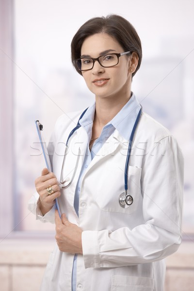 ストックフォト: 女性 · 医師 · 病院 · 肖像