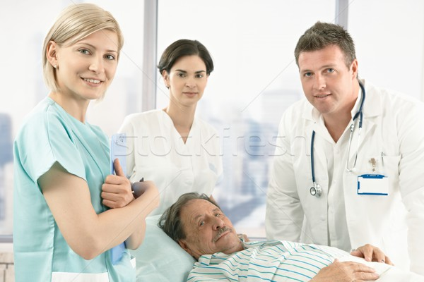 Old male patient in hospital Stock photo © nyul