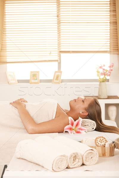 Young woman in massage parlour Stock photo © nyul