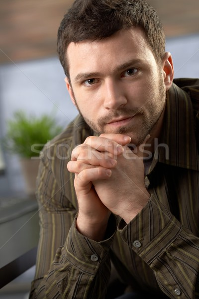 определенный человека портрет глядя камеры сидят Сток-фото © nyul