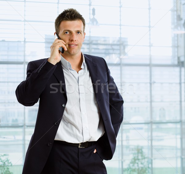 Businessman talking on phone Stock photo © nyul