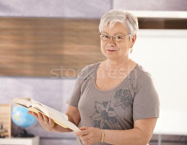 Senior teacher in school Stock photo © nyul