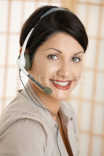 Closeup portrait of customer service operator Stock photo © nyul
