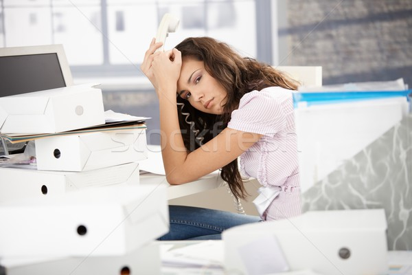 Attractive office worker fed up with work Stock photo © nyul