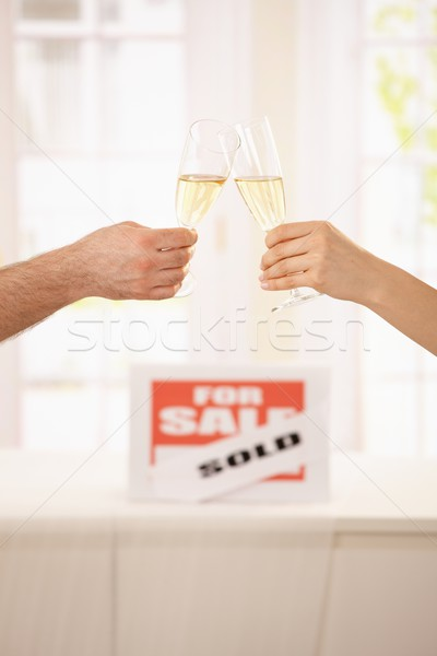 Stock photo: Celebration of new house