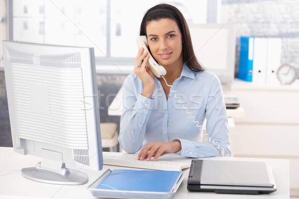 Stock photo: Woman working in office