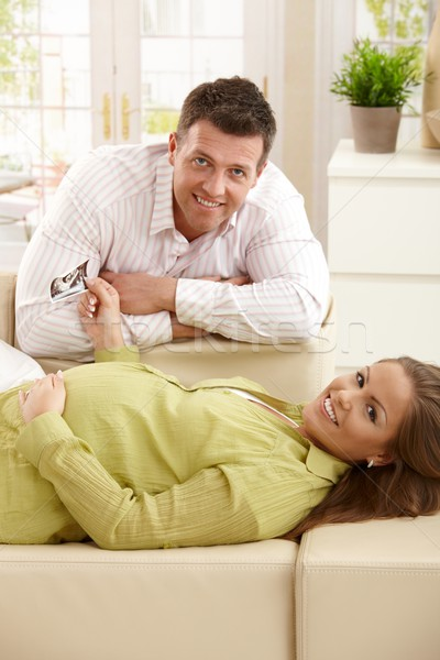Stock photo: Happy parents expecting baby
