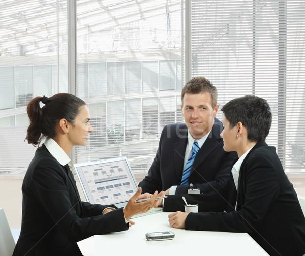 деловое совещание молодые кофейный столик служба лобби Сток-фото © nyul
