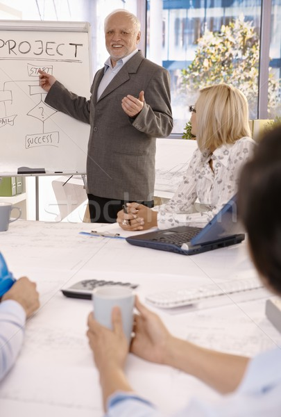 Experienced businessman training employees Stock photo © nyul