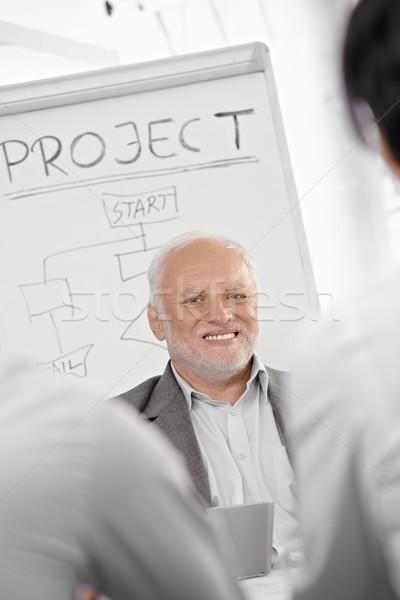 Businessman presenting project Stock photo © nyul