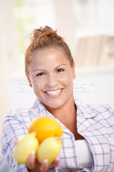 портрет лимоны стороны улыбаясь Сток-фото © nyul
