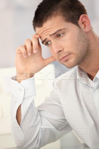 Homem empresário dor de cabeça escritório negócio trabalhar Foto stock © nyul