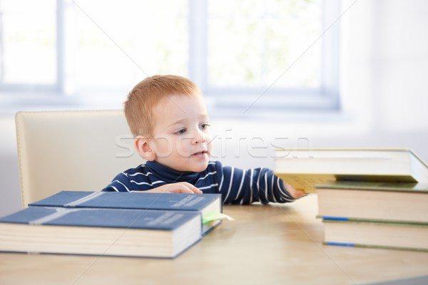 Toddler acting like schoolboy Stock photo © nyul