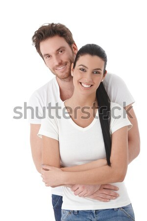 Portrait of happy young couple smiling Stock photo © nyul