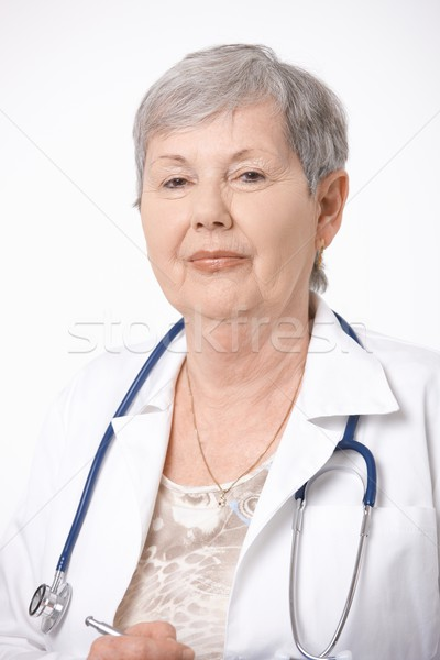 Stock photo: Portrait of senior female doctor