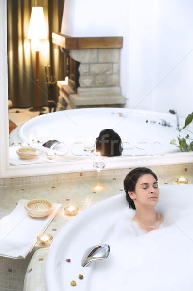 Enjoying the bath Stock photo © nyul