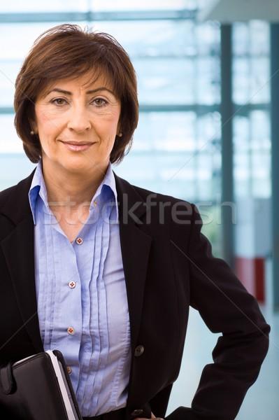 Foto d'archivio: Ritratto · senior · imprenditrice · ufficio · donne