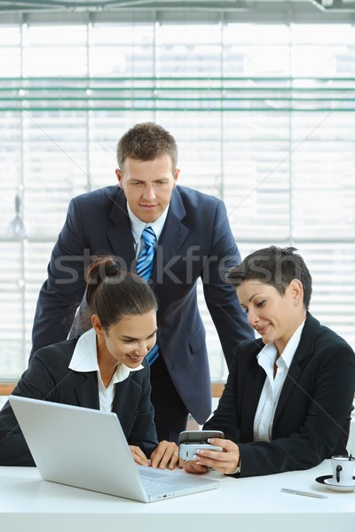 Stock photo: Young businesspeople