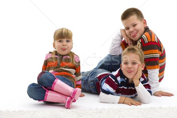 Mocking children Stock photo © nyul