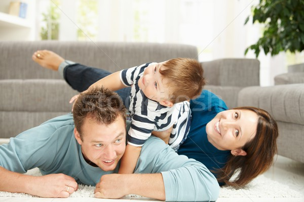 Family heap at home Stock photo © nyul