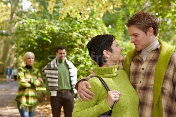 Loving couple embracing in park Stock photo © nyul