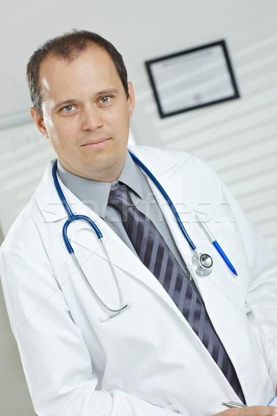 Сток-фото: портрет · мужской · доктор · медицинской · служба · глядя