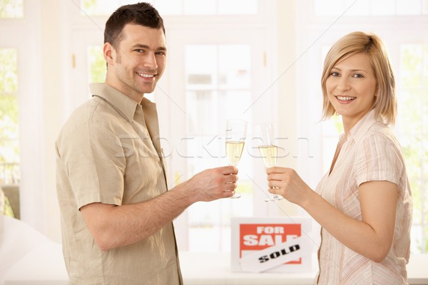 Couple celebrating new house Stock photo © nyul