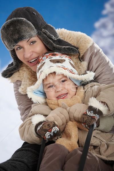 Mère enfant hiver portrait heureux ensemble Photo stock © nyul