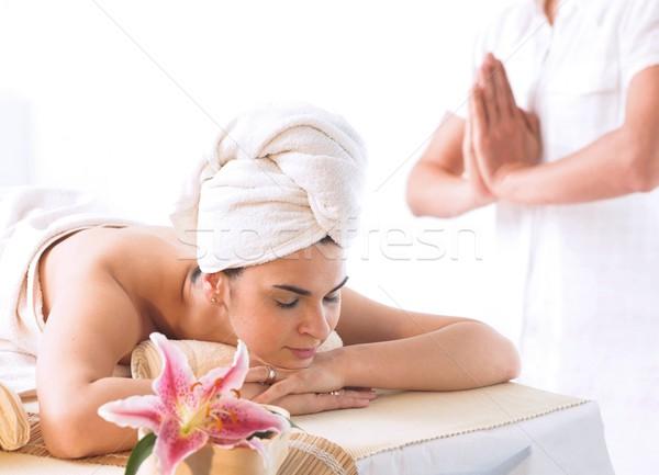 Wellness obraz ciało świetle masażu oleju Zdjęcia stock © nyul
