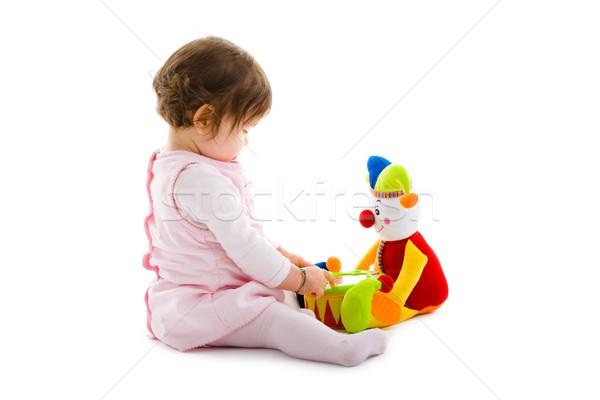 Baby gry szczęśliwy posiedzenia Zdjęcia stock © nyul
