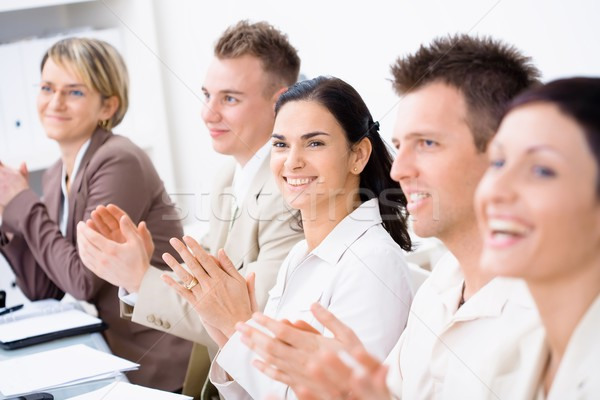 Clapping business people Stock photo © nyul