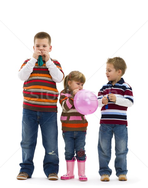 Children playing with toy balloon Stock photo © nyul