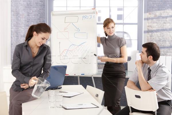 Сток-фото: молодые · бизнес-команды · семинар · улыбаясь · планирования