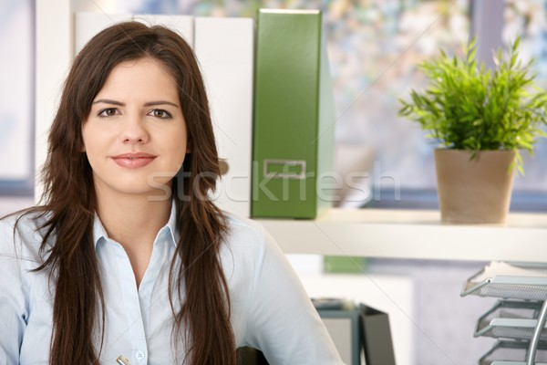 Stock photo: Pretty woman at work