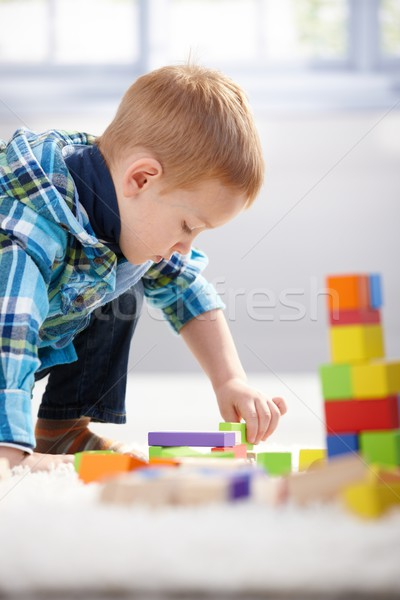 год старые потеряли мальчика играет здании Сток-фото © nyul