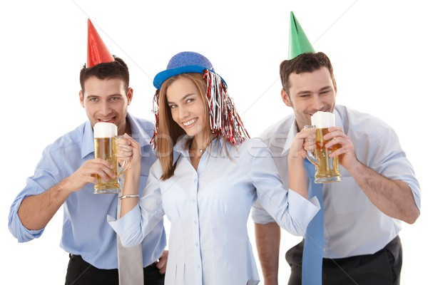 Stok fotoğraf: Mutlu · ofis · çalışanları · parti · eğlence · genç · gündelik