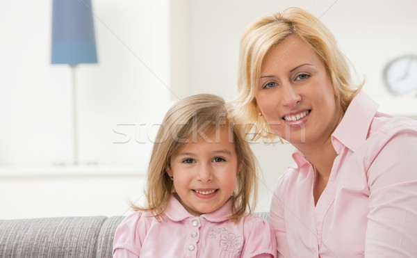 Mother and daugther in pink Stock photo © nyul
