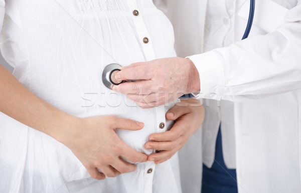 Stock photo: Doctor examining pregnant woman