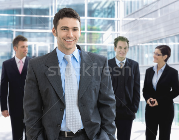 Stock photo: Businessman and team