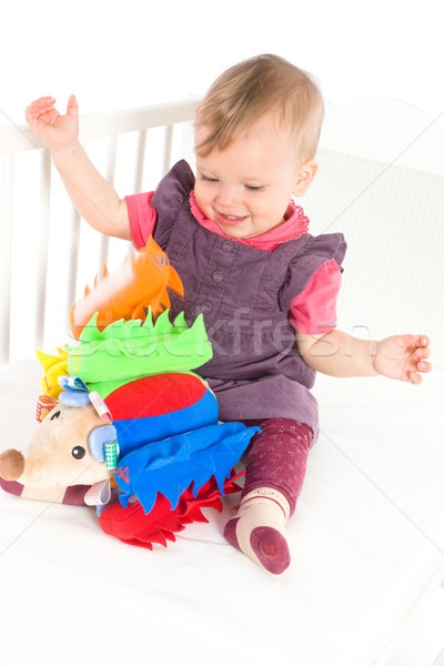 Baby playing with soft toy Stock photo © nyul