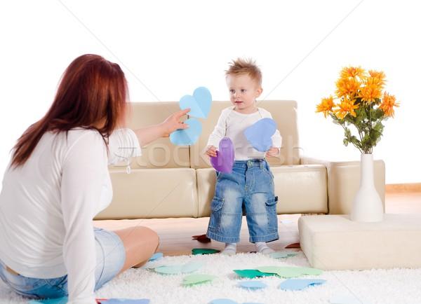 Сток-фото: матери · ребенка · играет · домой · лет · старые
