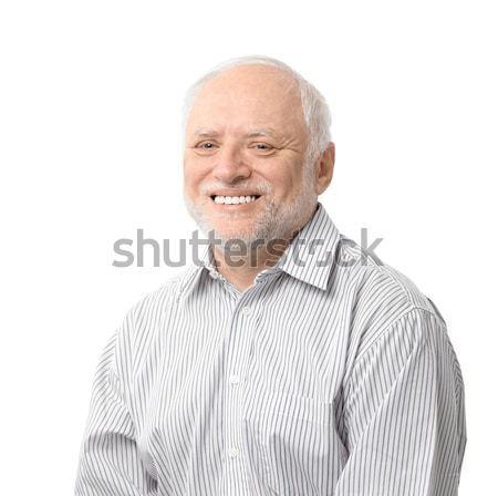 Portrait of happy senior man Stock photo © nyul
